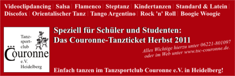 Couronne-Tanzticket Herbst 2011